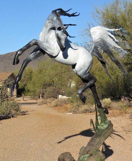 Freedom Life Size  Arabian Horse Bronze Sculpture 2017  Sculpture by J. Anne Butler