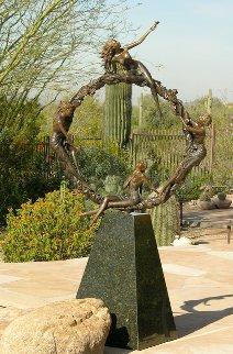 Seasons Figurative Bronze Sculpture 2009 80 in Sculpture by J. Anne Butler