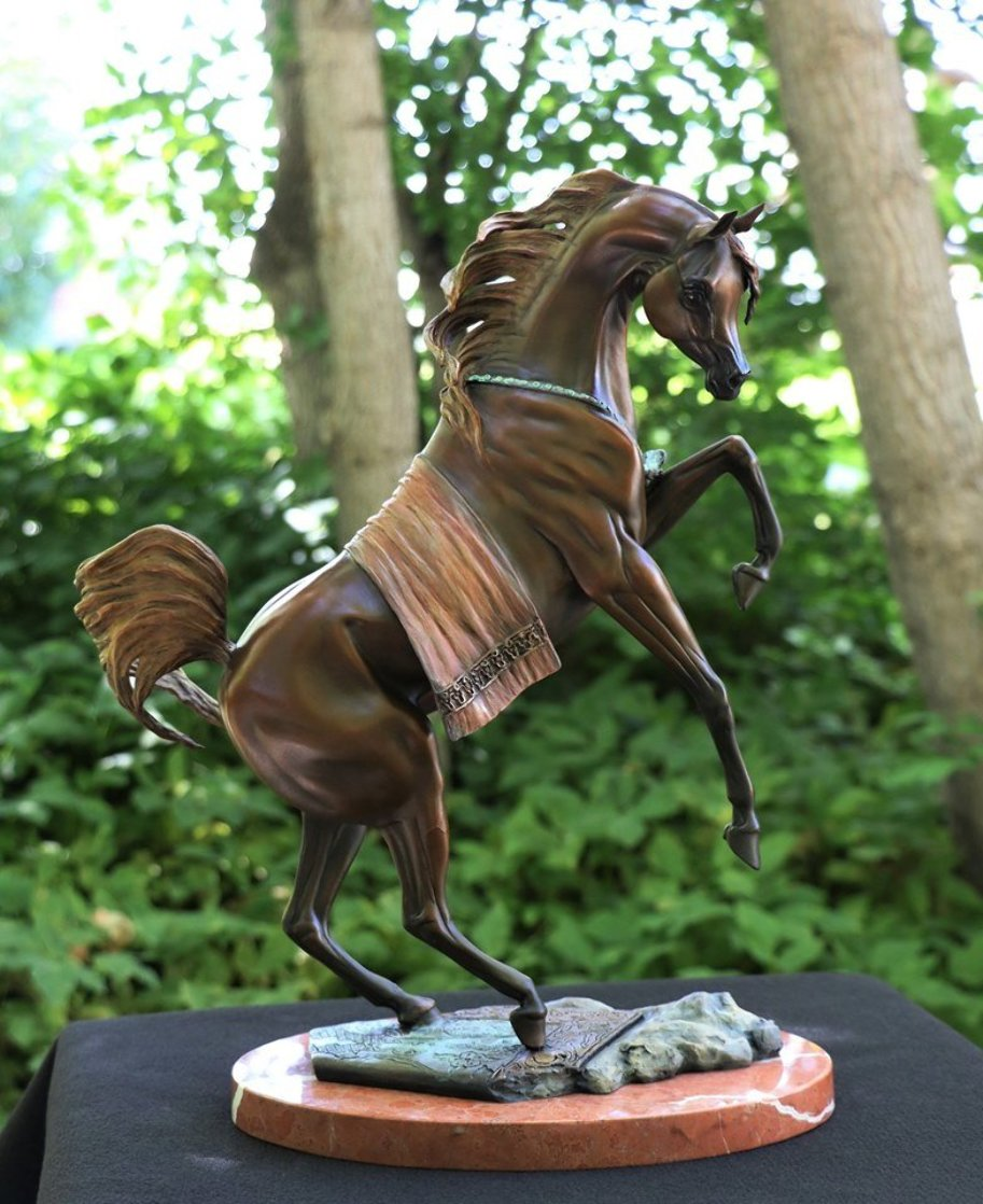 Legend Bronze Sculpture 16 in Sculpture by J. Anne Butler