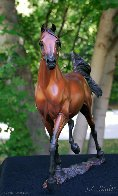Supreme Stallion Bronze Sculpture 2012 18 in Sculpture by J. Anne Butler - 1