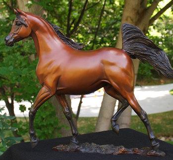 Supreme Stallion Bronze Sculpture 2012 18 in Sculpture by J. Anne Butler