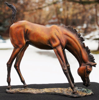 What's Grass? Bronze Sculpture 2019 8 in Sculpture by J. Anne Butler