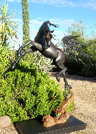 Freedom - Life Size Equine Bronze Sculpture 2017 76 in Sculpture by J. Anne Butler - 0