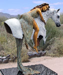 Harmony Bronze Sculpture 2000 26 in Sculpture - J. Anne Butler