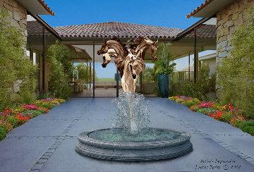 Equine Fountain Bronze Sculpture 2019 84 in Sculpture - J. Anne Butler