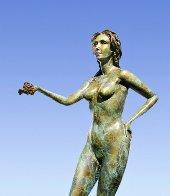 Earth Bronze Sculpture 2001 30 in Sculpture by J. Anne Butler - 1