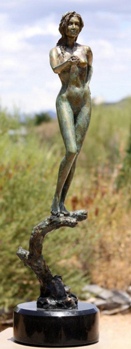 Earth Bronze Sculpture 2001 30 in Sculpture by J. Anne Butler