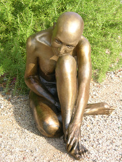 Purity Nude Female Bronze 2008 22 in  Sculpture by J. Anne Butler