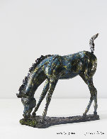What's Grass Bronze Foal Sculpture 8 in Sculpture by J. Anne Butler - 0