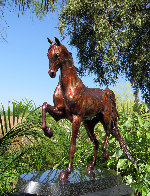Stepping High Bronze Sculpture 2016 19 in Sculpture by J. Anne Butler - 1