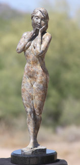 Grace Female Nude Bronze Sculpture 17 in Sculpture - J. Anne Butler