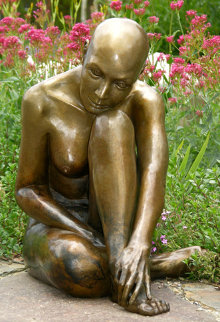 Purity -  Life Size Bronze Sculpture 2014 60 in Sculpture by J. Anne Butler