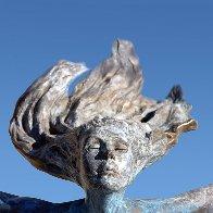 Air - Nude Female Form Bronze Sculpture AP 2005 31 in Sculpture by J. Anne Butler - 3