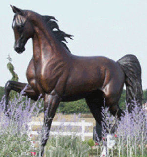 Monumental Life Sized Equine Bronze Sculpture 84 in Sculpture by J. Anne Butler