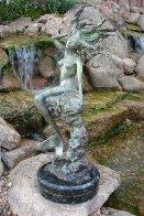 Mermaid Bronze Sculpture 2007 26 in Sculpture by J. Anne Butler - 1
