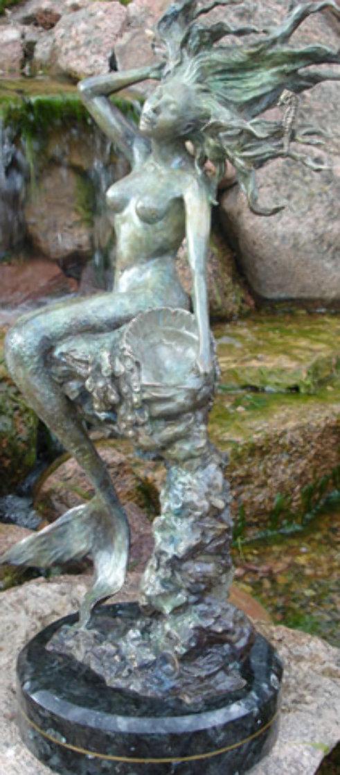 Mermaid Bronze Sculpture 2007 26 in Sculpture by J. Anne Butler