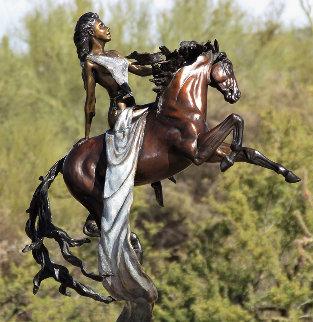 Epona - Celtic Goddess of Horse Bronze Sculpture 2008 24 in Sculpture by J. Anne Butler