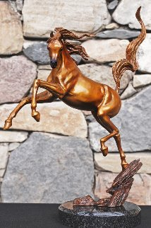 Sunshine Dancer Equine Bronze Sculpture 2015 16 in Sculpture - J. Anne Butler