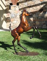 Layla Equine Life Size Bronze Sculpture 2015 53 in Sculpture by J. Anne Butler - 2
