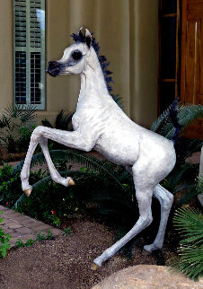 Layla B  Equine Life Size Horse Bronze 2016 72 in Sculpture - J. Anne Butler