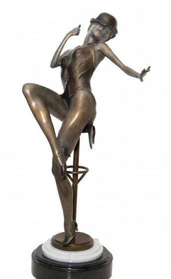 Night on the Pine Bronze Sculpture 1998 36 in Sculpture by Mario Jason