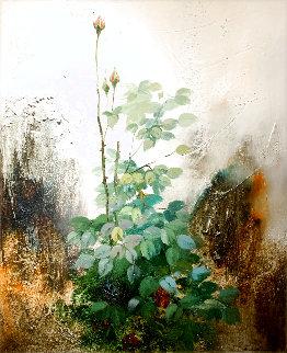 Roses 1995 40x34 Huge Original Painting - Jose Barbera