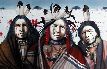 Ghost Dance in the Snow 2001 Limited Edition Print by J.D. Challenger