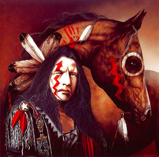 Heart of a Warrior 1997 Limited Edition Print - J.D. Challenger
