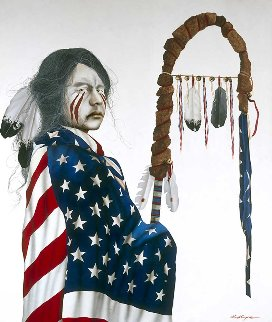 Stands With Glory 1992 72x60 Original Painting by J.D. Challenger