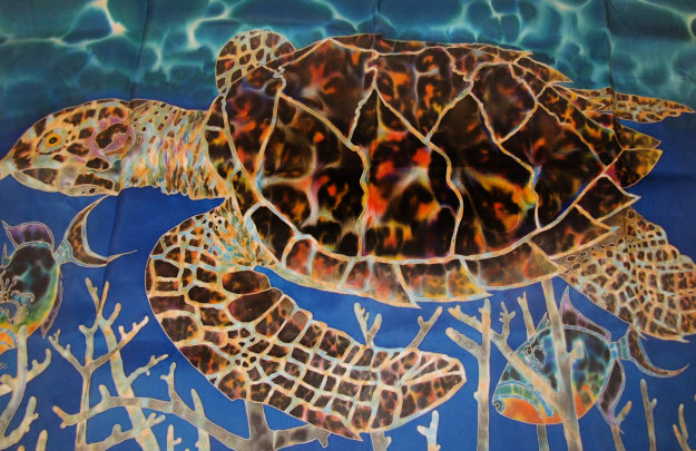 Hawksbill and Triggers 2000 26x43 Limited Edition Print by Daniel Jean-Baptiste