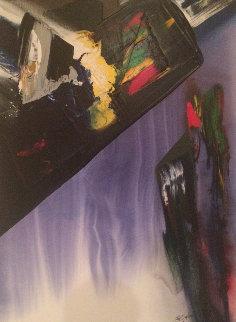Phenomena Shaman Turn 1987 52x39 Super Huge Original Painting - Paul Jenkins