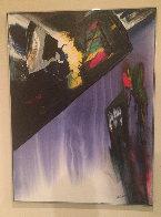 Phenomena Shaman Turn 1987 52x39 Super Huge Original Painting by Paul Jenkins - 1