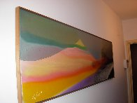 Phenomena Province of Seven 1976 27x92 Super Huge Original Painting by Paul Jenkins - 2