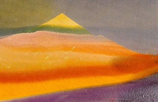 Phenomena Province of Seven 1976 27x92 Original Painting by Paul Jenkins