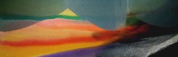 Phenomena Province of Seven 1976 27x92 Original Painting - Paul Jenkins