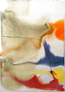 Phenomena Given Meridian Watercolor 1978 43x31 Huge - Signed Twice Original Painting - Paul Jenkins