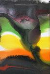 Phenomena Rain Forest Watercolor 1985 Watercolor - Paul Jenkins