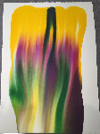 Phenomena Disappearance of Saturn 1972 Watercolor 46x34 Watercolor - Paul Jenkins