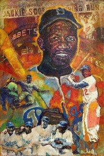 Jackie Robinson 2007 48x35 Original Painting - Jerry Blank