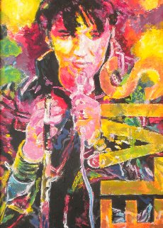 Elvis 2008 41x24 Original Painting - Jerry Blank