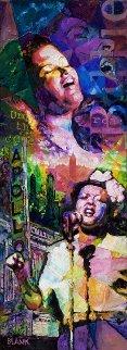 Billie Holiday 2007 72x26 Huge Original Painting - Jerry Blank