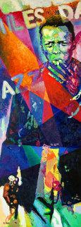Miles Davis 2006 72x26 Original Painting by Jerry Blank