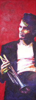 Chet Baker 2009 72x26 Super Huge Original Painting - Jerry Blank