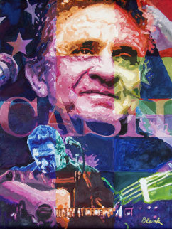 Johnny Cash 2009 24x18 Original Painting by Jerry Blank