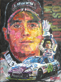 Jimmy Johnson 2011 24x18 Original Painting - Jerry Blank