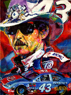 Richard Petty 2009 24x18 Original Painting by Jerry Blank