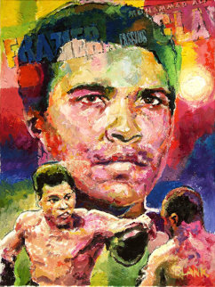 Muhammad Ali Versus Joe Frasier 2009 24x20 Original Painting - Jerry Blank
