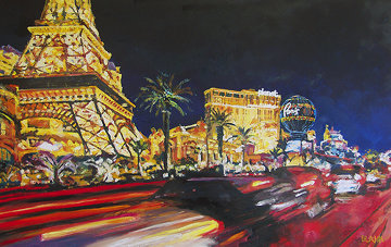 Midnight Vegas 2010 44x62 Original Painting - Jerry Blank