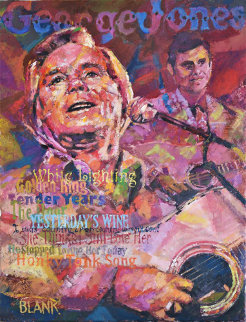 George Jones 2014 24x18 Original Painting by Jerry Blank