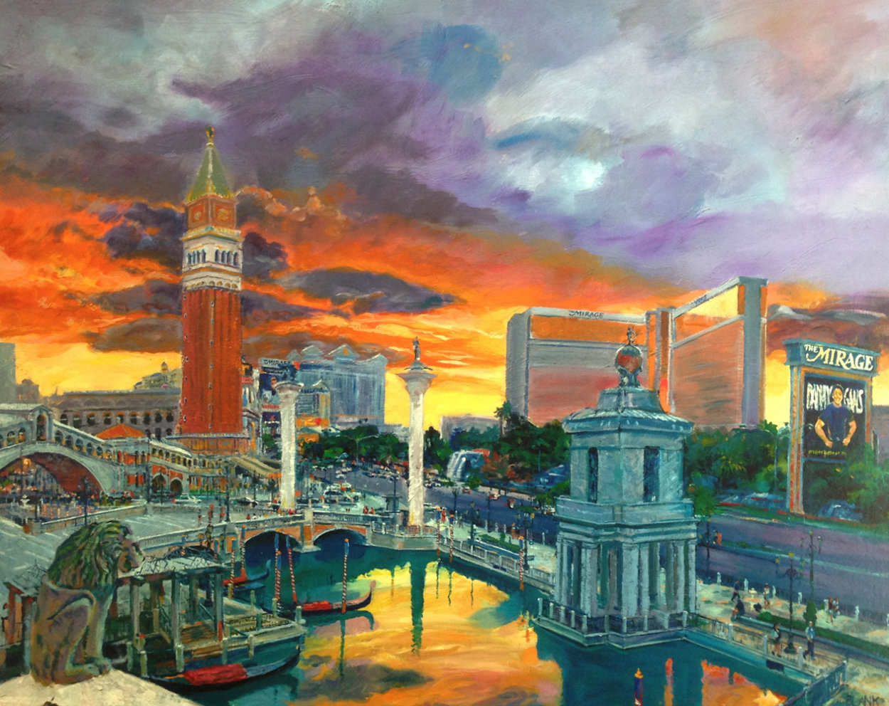 Venetian Hotel 2004 Huge Limited Edition Print by Jerry Blank